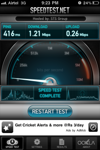 3G Test by Ookla